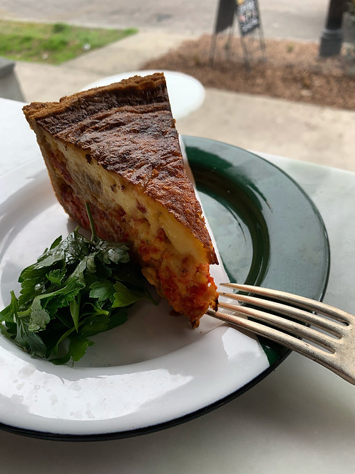 one whole 'very tall quiche'