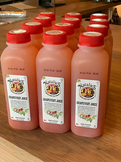 Natalie's Grapefruit Juice - 12each/16oz bottles
