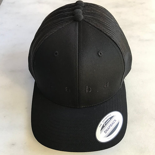 b a b a - classic trucker hat with black text