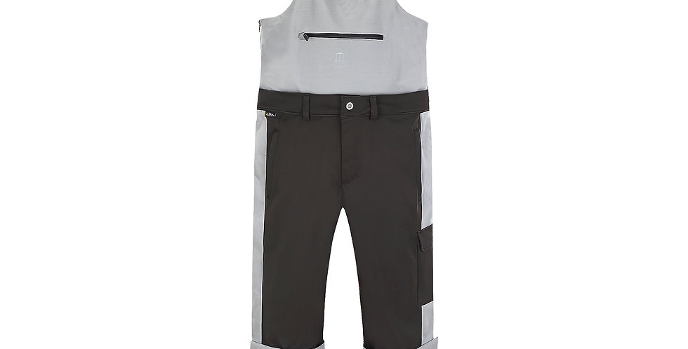 Doublechino Bib Pant - black