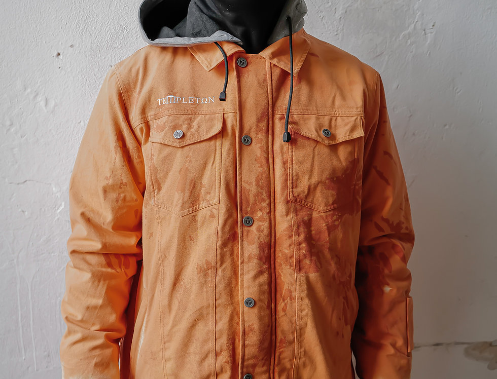 Workers Jacket - tie dye orange