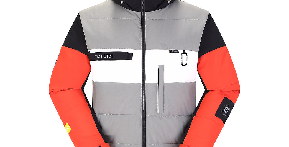 Puffy Jacket - redgrey