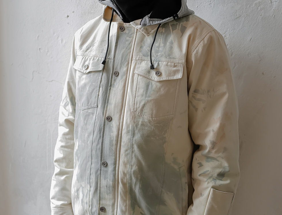 Workers Jacket - tie dye grey