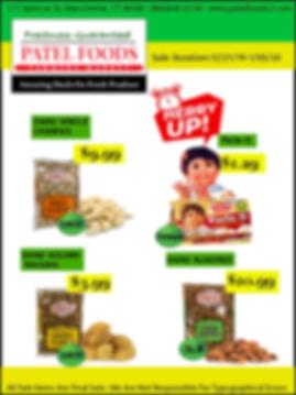 Indian Grocery store sale, winter sale major saving indian food, swad cashews, almonds, raisins, parle g