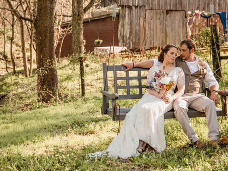Amanda + Adam's Country Chic Backyard Wedding
