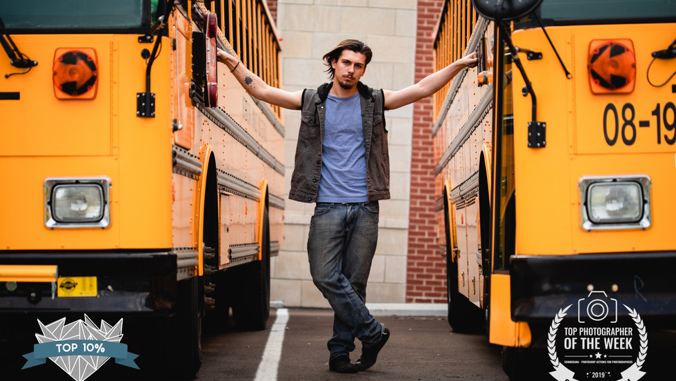 Colorful Campus Senior Session   Nashville, Tennessee