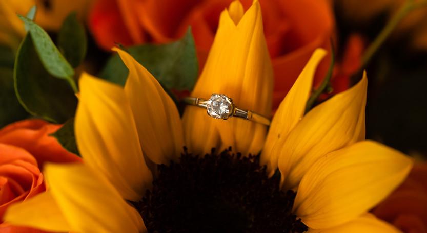 Summer Sunflower Wedding // The Brier Barn // Nikki & Zach