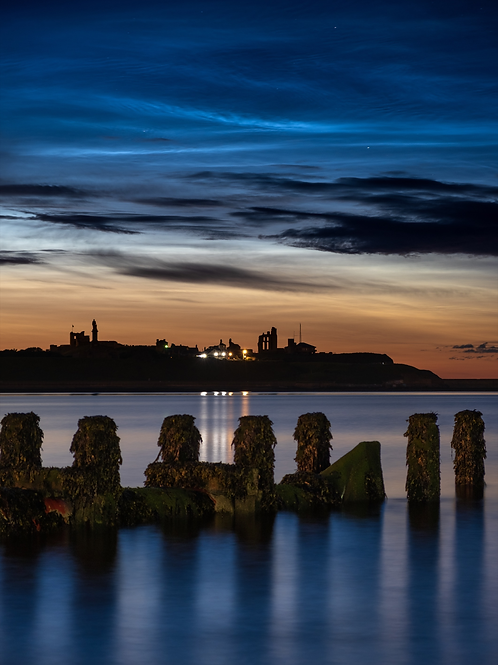 Noctilucent Clouds over Tynemouth Priory