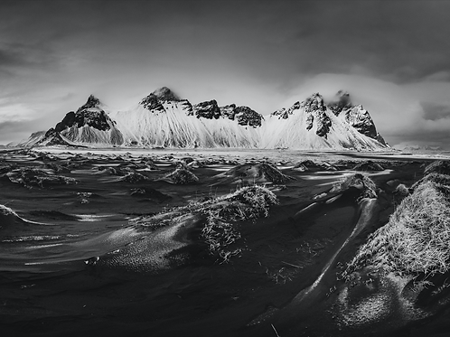 Vestrahorn - 3 (black & white)