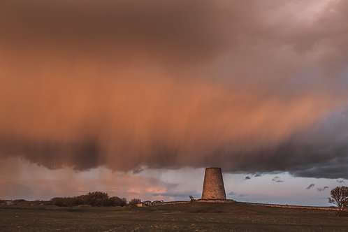 Sunset Storm over Cleadon Mill - 1