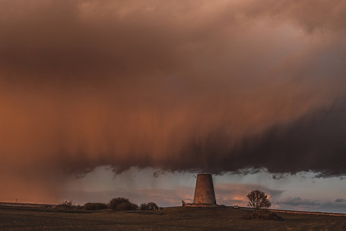 Sunset Storm over Cleadon Mill 2