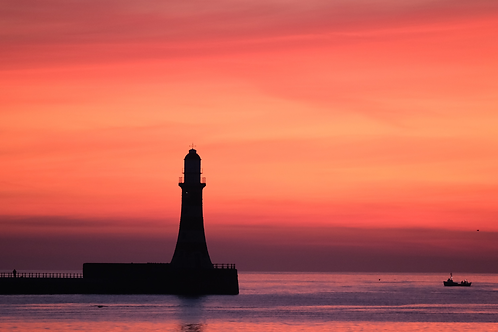 Roker Pier - Fisherman at sunrise
