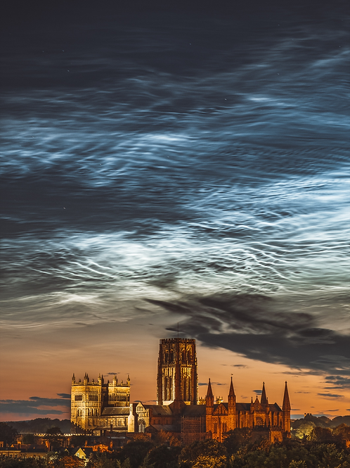 Durham Cathedral under Noctilucent Clouds