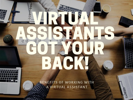 Benefits of Having a Virtual Assistant