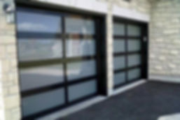 Aluminum Full-View Glass Garage Doors