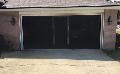 doors lifestyle screen brownstone frame with black super screen