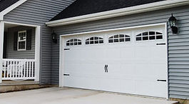 Stamped Steel Carriage House Garage Doors