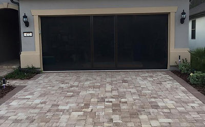 retractable screen doors lifestyle screen with brownstone frame and black super screen