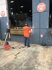 Loading Dock Bumper Repair and re-welds