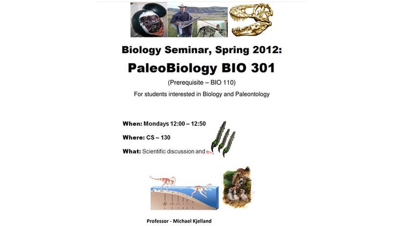 Paleobiology course