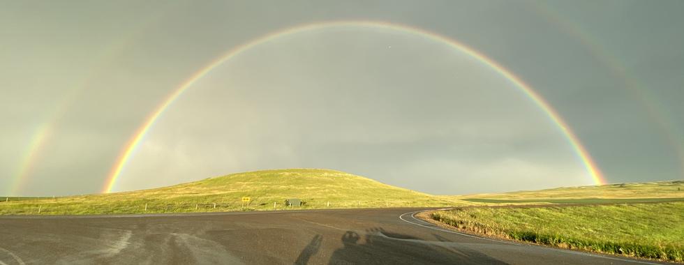 Badlands double rainbow