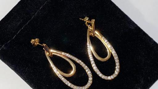 18K Gold plated dangle earring