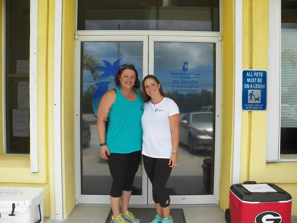 Veterinarians at Keys Animal Care Center on Big Coppit Key.