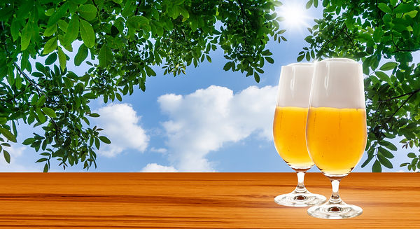 beer, leaves, open air.jpg