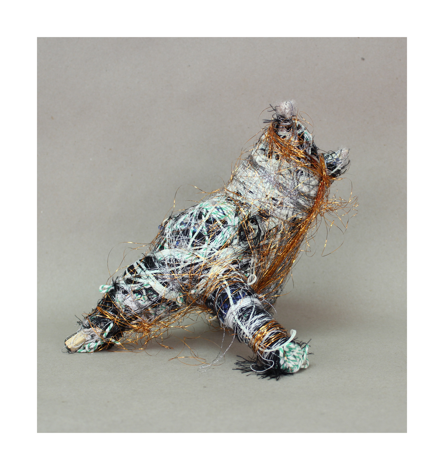 Untitled (Tinsel Cat)