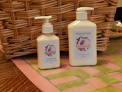 Peaches and Cream Goat Milk Lotion.... starting at....