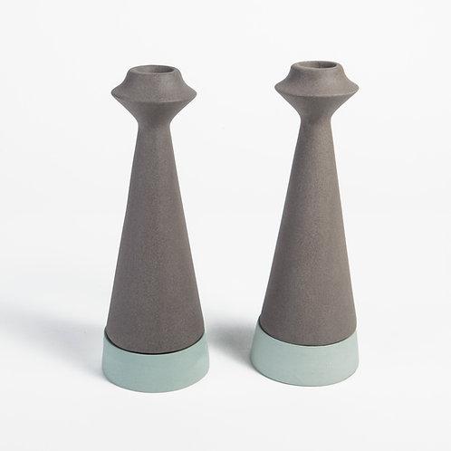 Ceramic Candle Holder, modern minimalist, modern candle holder, Shabbat Candlesticks, Wedding Gift, candleholder, shabbat can