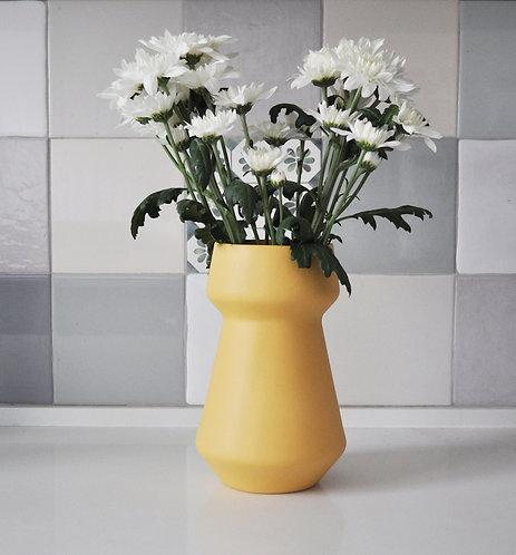 modern Yellow vase, ceramic flower pot, ceramic flower vase, Yellow vase, pottery vase, modern home decor, wedding gift, mod