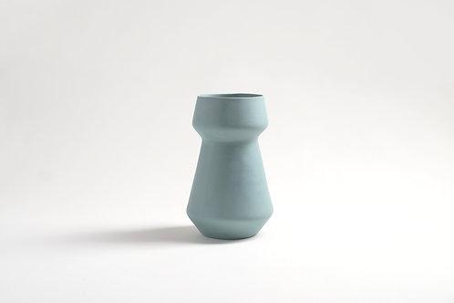 modern teal vase, ceramic flower pot, ceramic flower vase, turquoise vase, pottery vase, modern home decor, wedding gift, mod