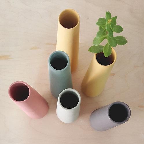 ceramic flower vases, bud vase, minimalist pastel vase, single flower vase, table centerpiece, decorative vase, scandinavian