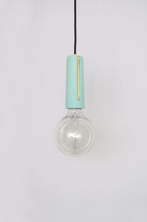 Turquoise Canal Light with 24K Gold