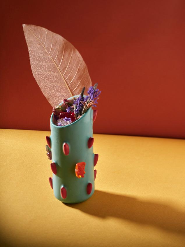 Yahalomis ceramic rose cocktail cup.jpg