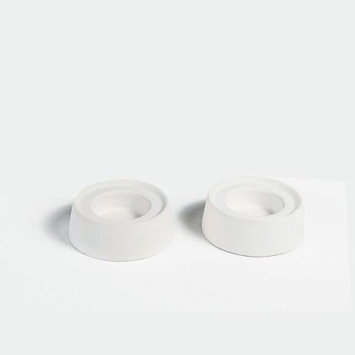 white ceramic candle holder, tealight holder set, modern minimalist Tealight, candle holder modern, shabbat candles,yahalomis