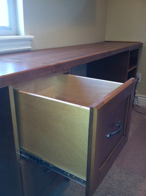 File drawer in home office