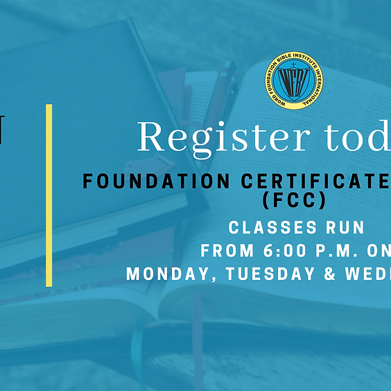 Foundation Certificate Course May Intake