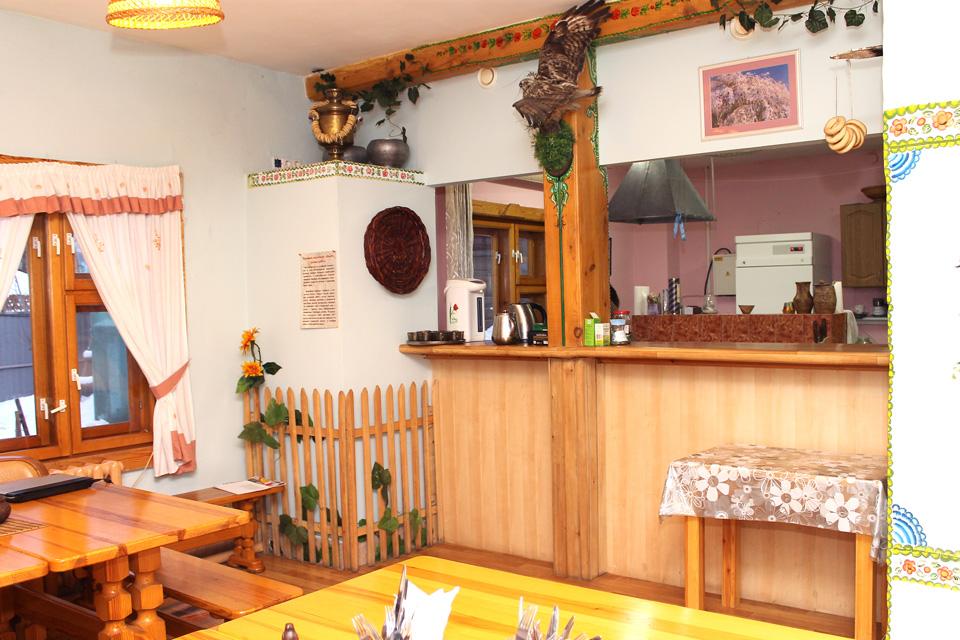 Фото кухни столовой на турбазе