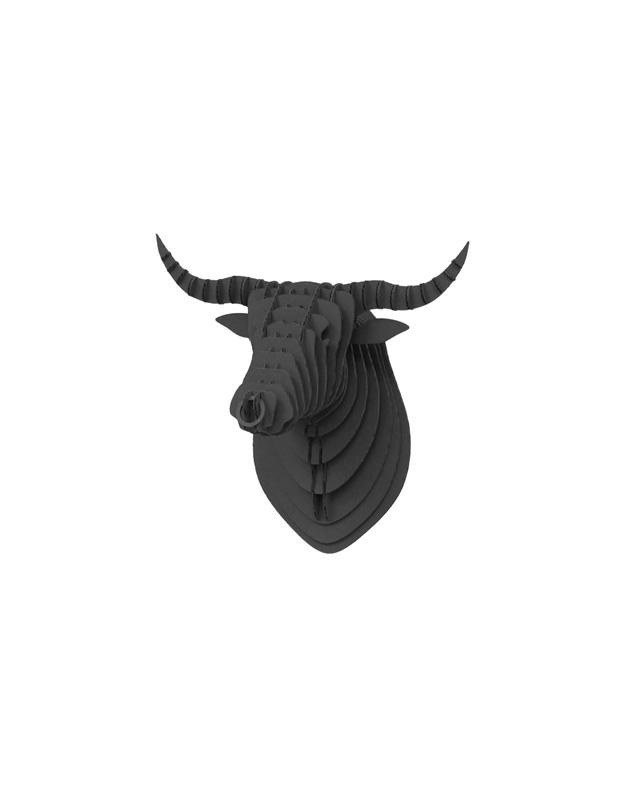 Cardboard Bull Black 5