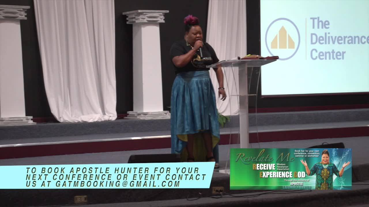 """Apostle Laequinla Hunter as she ministers from the topic """"The Making of a Warrior""""! We pray this message blesses you! Inbox us to purchase this DVD."""
