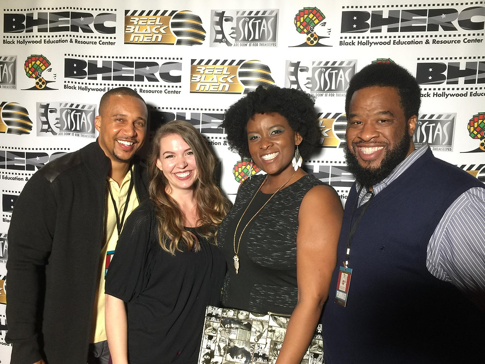 From left: Larry Ulrich (Director/Writer/Executive), Kelsey Osborne (Supporting Role), Shannon O'Connor (Lead Role), Dion Vines (Director)