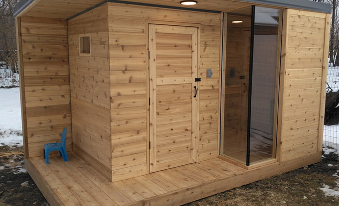 Sauna with Lights