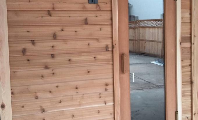 Handcrafted Cedar Sauna