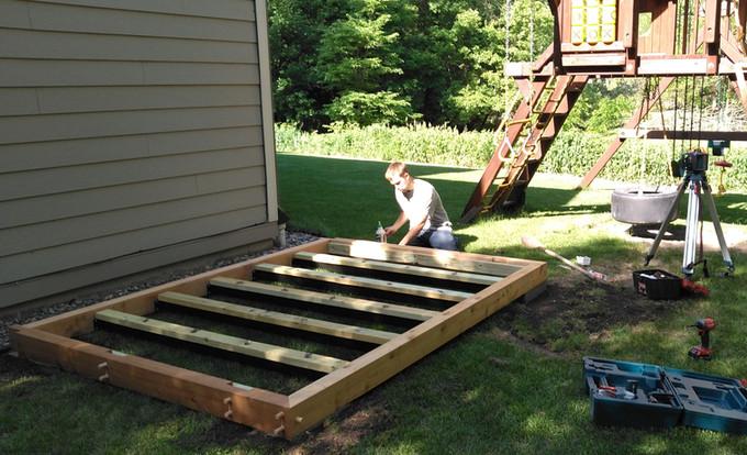 Outdoor Sauna Build