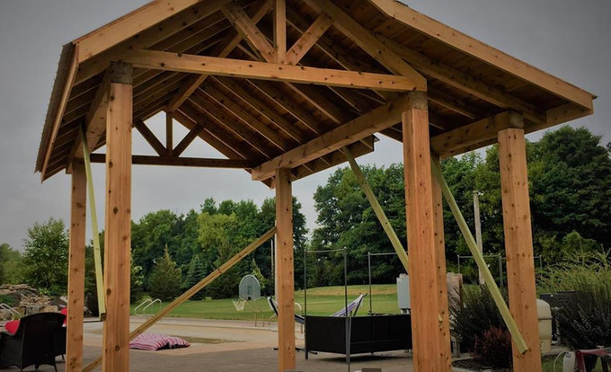 Outdoor Kitchen Timber Frame