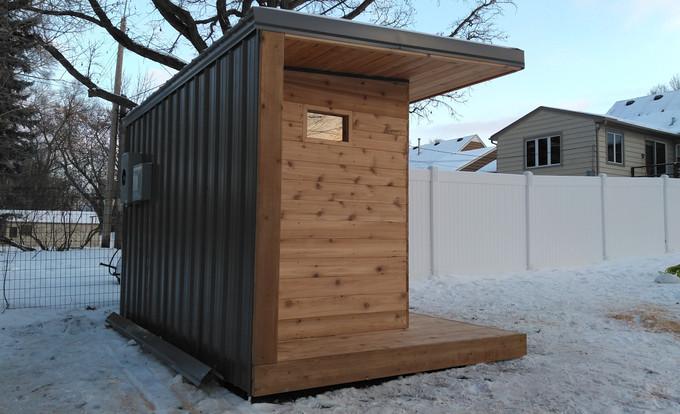 Outdoor Sauna End