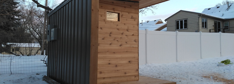 Outdoor Sauna End