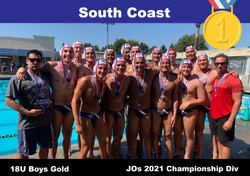 21 JO Champ 18U Boys South Coast 1st Gold